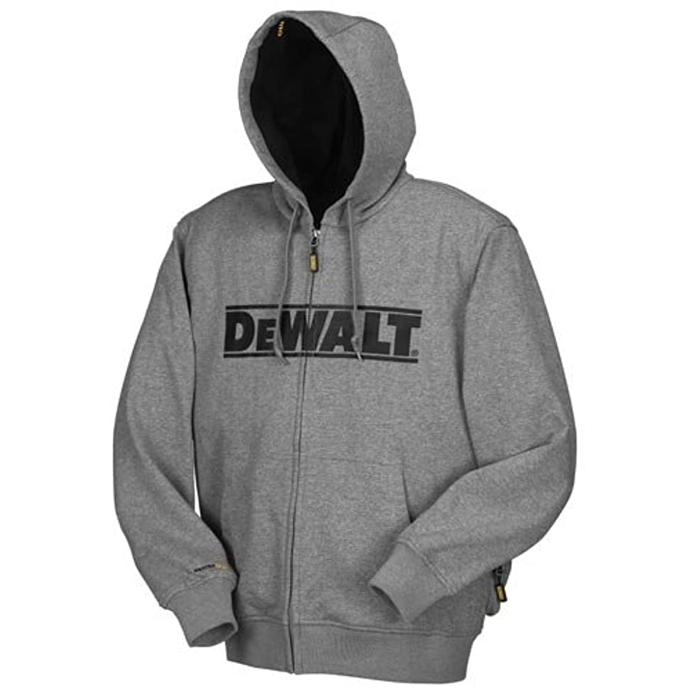 瞑想する遷移スポットDEWALT DCHJ068B-XL 20V/12V MAX Bare Hooded Heated Jacket, Gray, X-Large by DEWALT