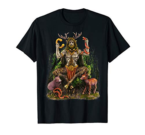Cernunnos Celtic God Forest Scene T-Shirt