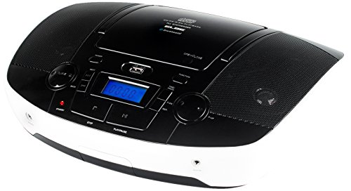 color blanco y negro Elbe GPM-225-BT Radio CD con MP3 USB y Bluetooth