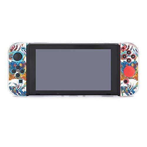 Carcasa protectora para Nintendo Switch, diseño de cangrejo colorido brillante y duradero para Nintendo Switch y Joy Con
