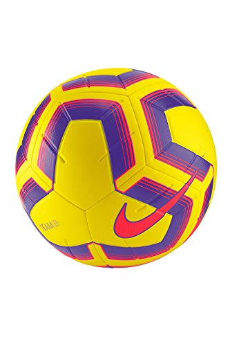 Nike Unisex-Adult Strike Team Soccer Ball, Yellow/Purple/Flash Crimson, 5