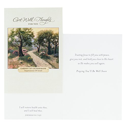 DaySpring Thomas Kinkade - Get Well - Inspirational Boxed Cards - God's Strength - 74869,Multi Color Photo #5