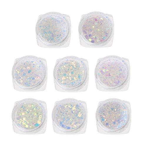 8 Stücke UV Farbwechsel Glimmer Pulver Sonnenlicht Reaktive Glitter Harz Schmuckherstellung,UV Harz Epoxidharz Handwerk Materialien