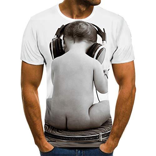 Manga Corta Summer Fashion T-Shirt Men/Women Streetwear O-Neck Short Sleeve Tees Funny Humor Interesting Male Clothes Casual 3D Print XXXL Txu-1001