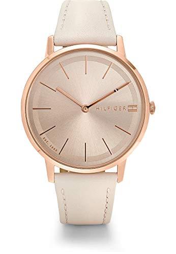 Tommy Hilfiger Damen Analog Quarz Uhr mit Leder Armband 1781936