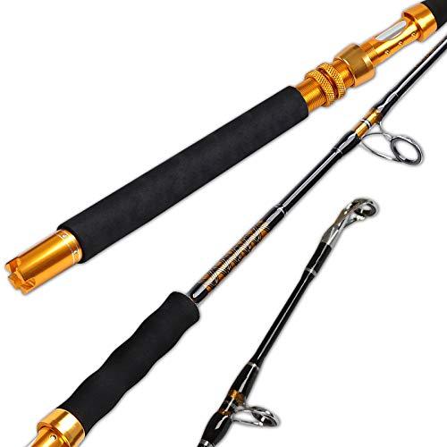 Fiblink Saltwater Jigging Spinning Rod 1-Piece Heavy Jig Fishing Rod (30-50lb 50-80lb 80-120lb, 5-Feet 6-Inch)(30-50 lbs)