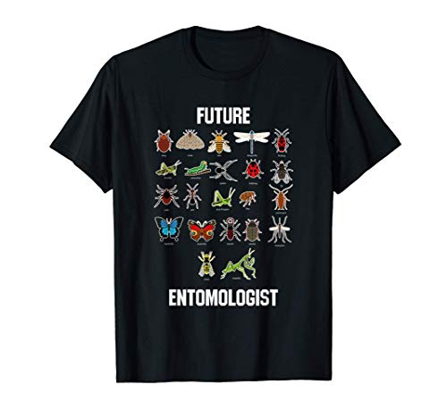 Future Entomologist Insect Chart Bug Types T-Shirt