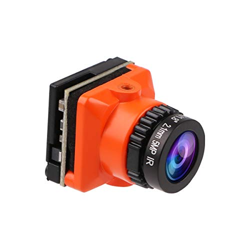 1500TVL Mini cámara FPV CAM Lente FOV de 2.1 mm Lente D-WDR PAL/NTSC de 135 Grados y OSD conmutable 4: 3/16: 9 para Racing Drone Orange
