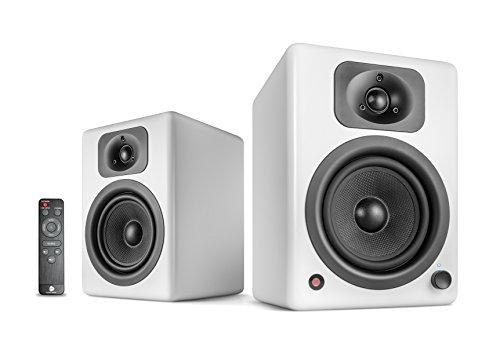 wavemaster TWO NEO soft white – Regallautsprecher-System (60 Watt) mit Bluetooth-Streaming, digitalen Anschlüssen und IR-Fernbedienung Aktiv-Boxen Nutzung für TV/Tablet/Smartphone, mattweiß (66366)