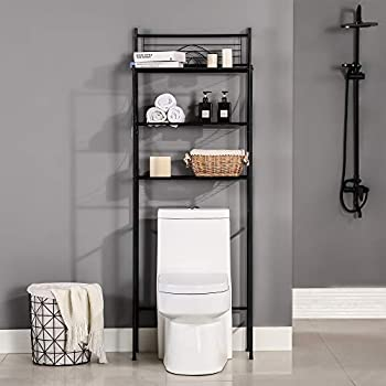 MallBoo Toilet Storage Rack 3 -Tier Over-The-Toilet Bathroom Spacesaver - Easy to Assemble,26.7  L x 9.5  W x 64.4  H