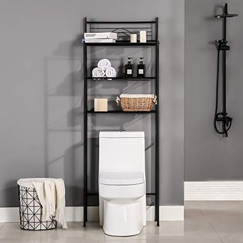 """MallBoo Toilet Storage Rack, 3 -Tier Over-The-Toilet Bathroom Spacesaver - Easy to Assemble,26.7"""" L x 9.5"""" W x 64.4"""" H"""