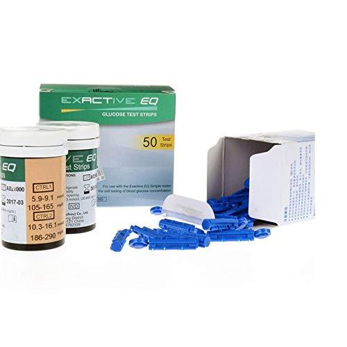 ATIN Lot de 50 bandelettes de test de glycémie Exactive EQ -...