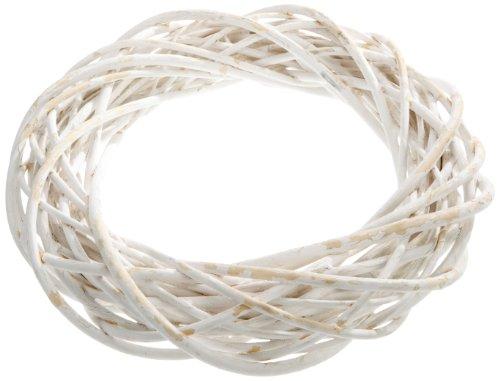 Prima Flora 410526 Corona di salice, 35 cm, Colore: Bianco