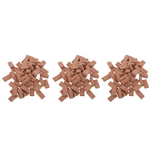 SM SunniMix 150er-Set 1.7cm x 0.9cm Backsteine Steine für Baukasten Modellbau