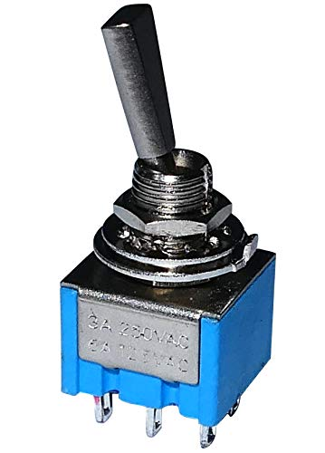 Aerzetix - Switch Kippschalter DP3T ON-OFF-ON 3A/250V 3 Positionen