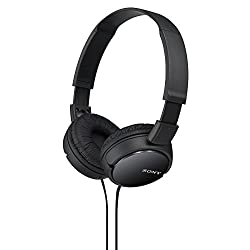 commercial over ear headphones Sony Stereo Headphones MDRZX110 / BLK ZX Series (Black)