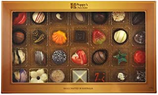 Poppy's Chocolate Gift Box 28 Gourmet Chocolates and Truffles Assorted Collection - Hand Made - Gluten Free - Australian Made