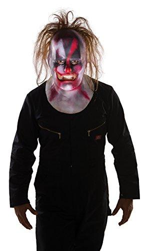 Rubie's Costume Co Slipknot Clown Full Mask with Hair, Multi, One Size
