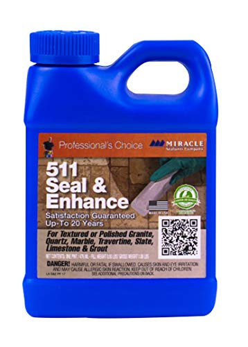 Miracle Sealants SEENPT6 511 Seal & Enhance Color & Gloss Enhancers, Pint, Clear