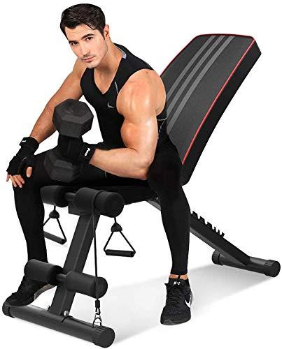 YOLEO Banc de Musculation Pliable Banc de Poids Gymnastique à Domicile Bureau, Dossier réglables...