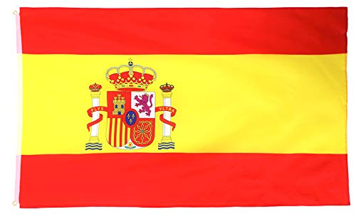 Star Cluster 90 x 150 cm Spanien Flagge/Spanien Fahne/Fanartikel/Spain National Flag/Bandera Nacional de españa (ES 90 x 150 cm)