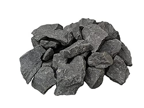 VIAMO® Premium Saunasteine aus Olivin-Gestein - 1 Pack à 18 kg - Steingröße 5-12 cm - Original Steine mit hoher Wärmespeicherkapazität und Herkunft aus Finnland