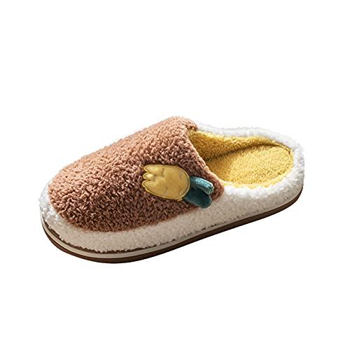 LLDG Unisex Hausschuhe rutschfeste Pantoffeln für Herren/Damen Warme Schlappen Home Weite Leicht Slipper Mode Plüsch Latschen Komfortable Hüttenschuhe Flauschige Heimschuhe Bequem Slides