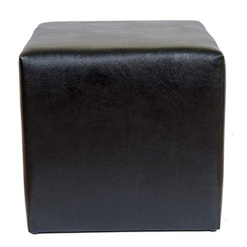 Milanino Kunstleder Sitzhocker ideal für Büros, Praxen, Schulen und Events | Sitzwürfel | Hocker 40 x 40 x 40 | Fußhocker | (schwarz)