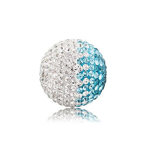 Engelsrufer Klangkugel Crystal türkis / weiß L 20mm