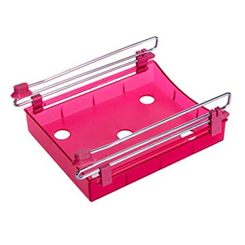 FairOnly Organisateur de Cuisine Etagère Cuisine Réfrigérateur Type de tiroir Etagère Réfrigérateur Organisateur Box Rack Rouge 20 * 15 * 7,5 cm
