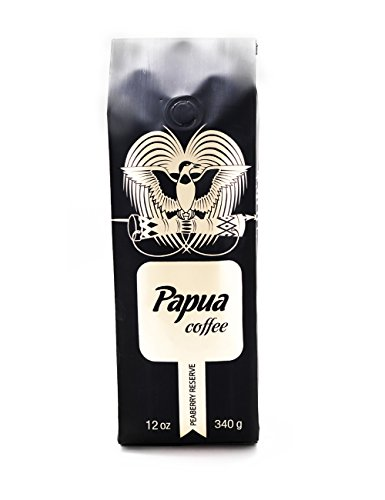 Papua Whole Bean Peaberry Coffee (12 oz)