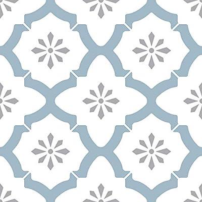 FloorPops FP2943 Alfama Peel & Stick Floor Tile, Multi-Color