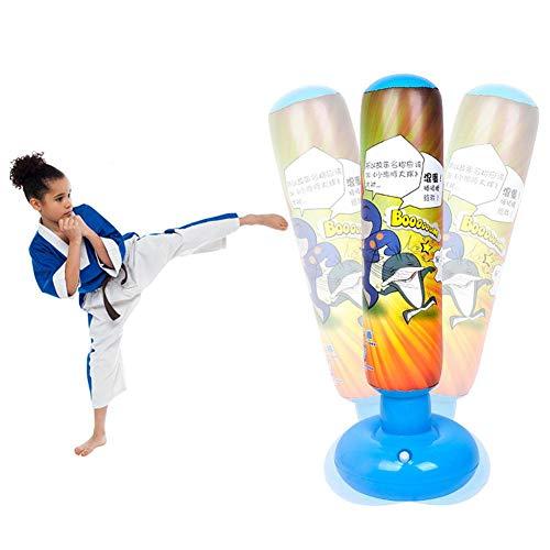 Schildeng Aufblasbarer Boxsack für Kinder, 1,25 m Fitness Boxsack Freistehende schwere Boxsäcke MMA Kick Trainingstasche