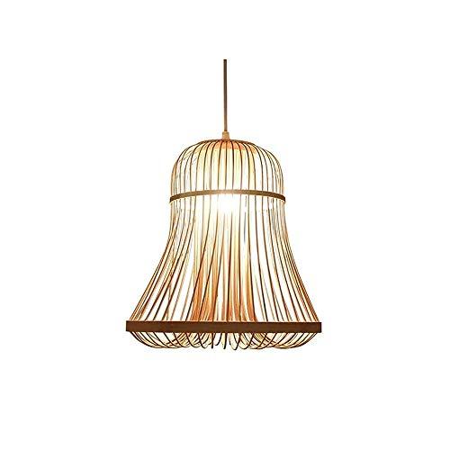 Luz colgante moderna Lámpara de techo de araña hueca de una sola cabeza moderna, bambú hecha a mano E27 Transmisión de alta luz Lámpara de chandelería, 30 × 32 cm Adecuado for el dormitorio for el hog