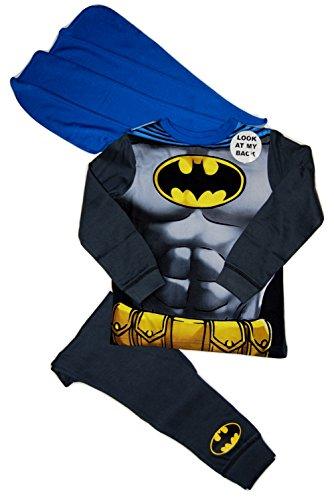 Marvel Super Hero Batman Kostüm PJs Pyjama-Set für Jungen, 5–6 Jahre, Blau/Schwarz/Mehrfarbig