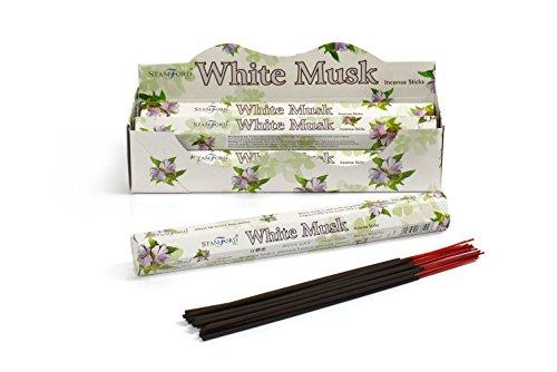 Stamford White Musk Incense, 20 Sticks x 6 Packs