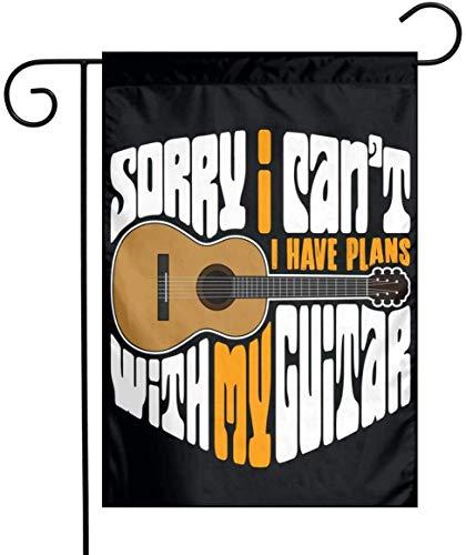 Not Applicable Gitarrengarten Flagge Banner dekorative Outdoor Single Sided Yard Flagge 12.5