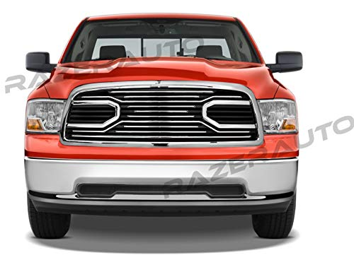 GSI Big Horn Chrome Grille W/Replacement Shell Packaged Grille Shell for 09-12 Dodge Ram 1500