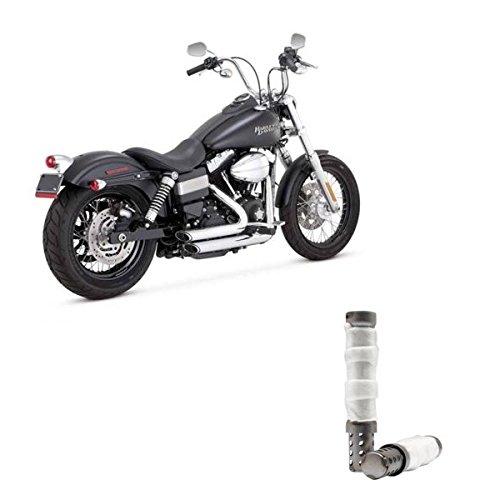 Scarichi Shortshots Vance & Hines Cromati x Harley Davidson Dyna, Bob FXDB, Low Ride FXDL, Fat Bob FXDF, Wide Glide FXDWG, Super Glide FXD DAL 2012 AD OGGI 12-UP + Set Coppia DB Killer Silenziatori