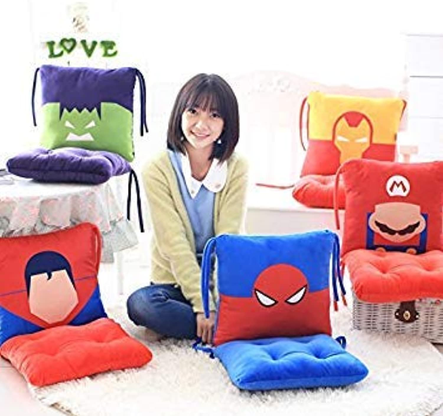 D   Furniture Thicker Cushion Office can be Split Back Waist pad Students Warm Pillow Waist Pillow Soft and Comfortable
