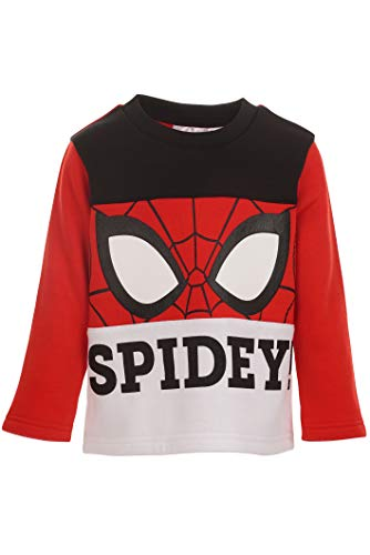 Marvel Spiderman Toddler Boys Fleece Long Sleeve Pullover Sweatshirt Red 2T