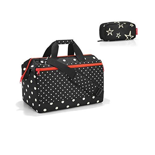 reisenthel Allrounder L Pocket Mixed dots Reisetasche 48cm, 32 l Plus multicase Kosmetiktasche Stars