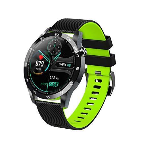 YBCN Reloj Inteligente Rastreador De Ejercicios con Monitor De Frecuencia Cardíaca Oxímetro Termómetro Clínico Seguimiento del Sueño IP67 Impermeable Reloj para Correr para Hombres Y Mujeres,Verde