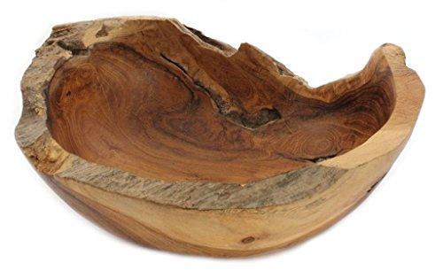 Windalf Früchte & Obstschale MIA 20 cm Schmuck- & Schlüsselschale Snackschale Dekoschale Handarbeit aus Wurzelholz
