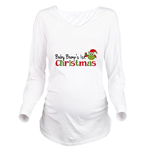 Product Image of the CafePress Baby Bump's 1St Christmas Owl Long Sleeve Maternit Long Sleeve...