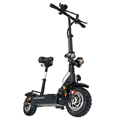 WXJZ Patinete Electrico Adultos Plegable Velocidad 80 Km/h Patinete Electrico Adulto Potente Todoterreno Doble Suspensión Autonomia: 90 Km
