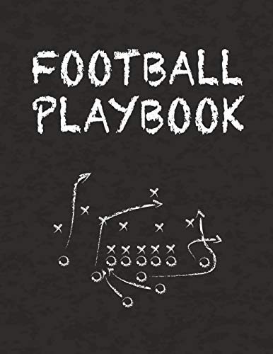 """Football Playbook: 8.5"""" x 11"""" Notebook for Drawing Up Football Plays and Creating a Playbook and Other Notes"""