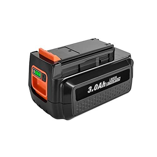 Bonadget 3000mAh 40V LBXR36 Lithium-Ion Replacement Battery Compatible with LBX2040 LBX36 LBXR2036 Series Cordless Power Tools(1 Pack)