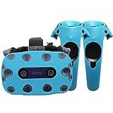 Funda de protección - Auriculares y mandos - Silicona - HTC Vive Pro (Flashy Azul)