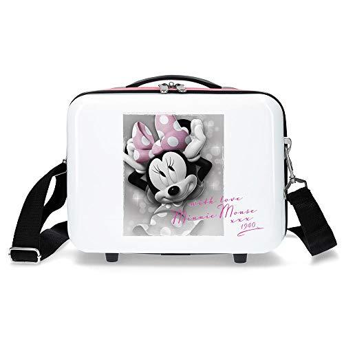 Disney Minnie Style Trousse de toilette adaptable Blanc 29x21x15 cms ABS